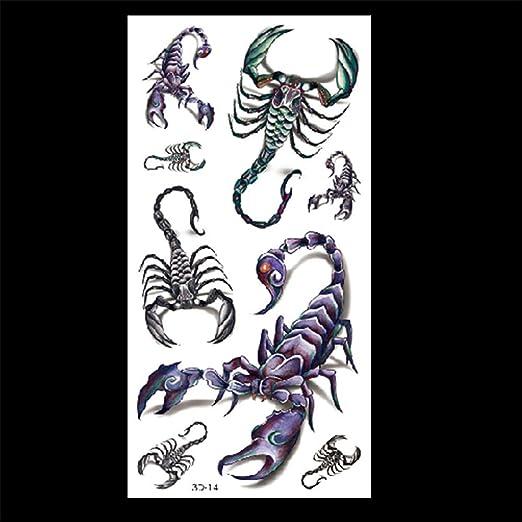zgmtj Etiqueta engomada del Tatuaje 3D patrón de Color araña 3D-14 ...