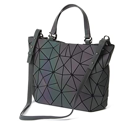 "1d06191e31ca HotOne Geometric Luminous Purses and Handbags Shard Lattice Holographic  Purse Fit 14"" Notebook Bags("