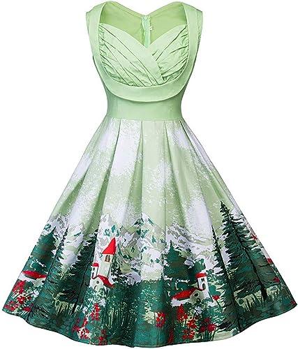 Amazon.com: Amiley Women Christmas Plus Size Retro Vintage ...