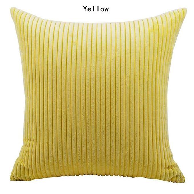 Amazon.com: Kaiye - Funda de almohada de color liso, estilo ...