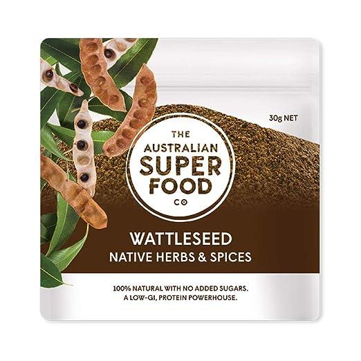 The Australian Superfood Co Wattleseed Powder, 30g (Ground Roasted Wattleseed), Brown