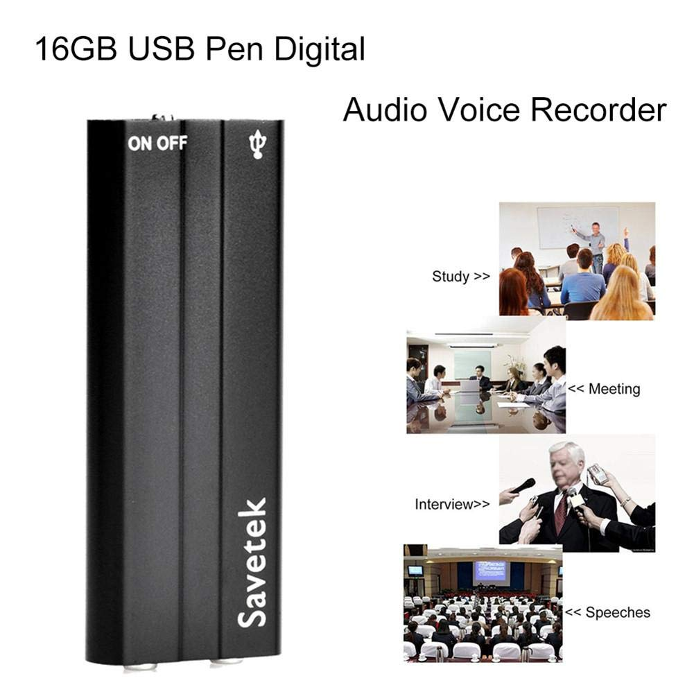 Confidanilin Digit Audio Recorder with USB - 16GB / 90 Hrs Capacity Mini Sound Recorder - Audio Recording Device with Microphone!