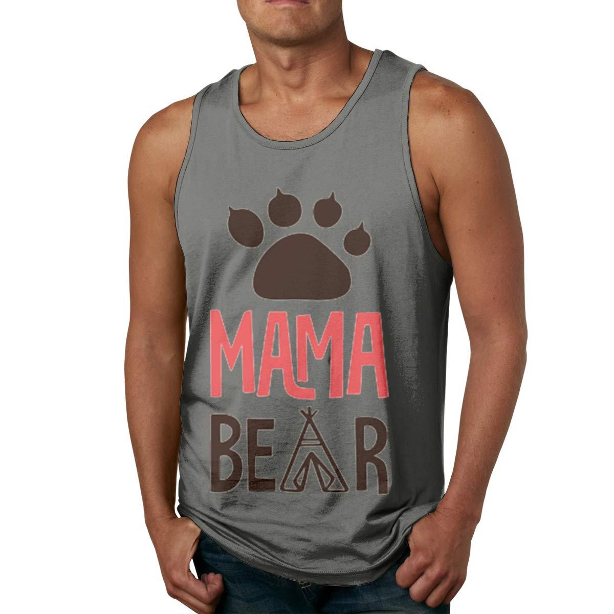 Vanmass S Mama Bear Sleeveless Tank Top Shirt