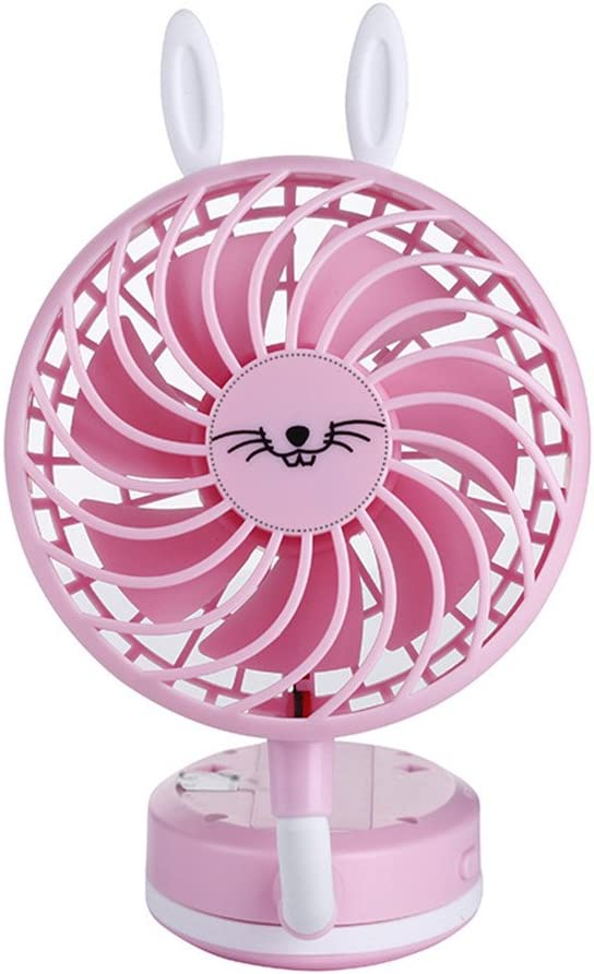 WDA Mini USB Handheld Fan,Foldable Personal Portable Desk Desktop Table Cooling Fan Battery Operated Electric Fan for Office Room Outdoor Household Traveling Black