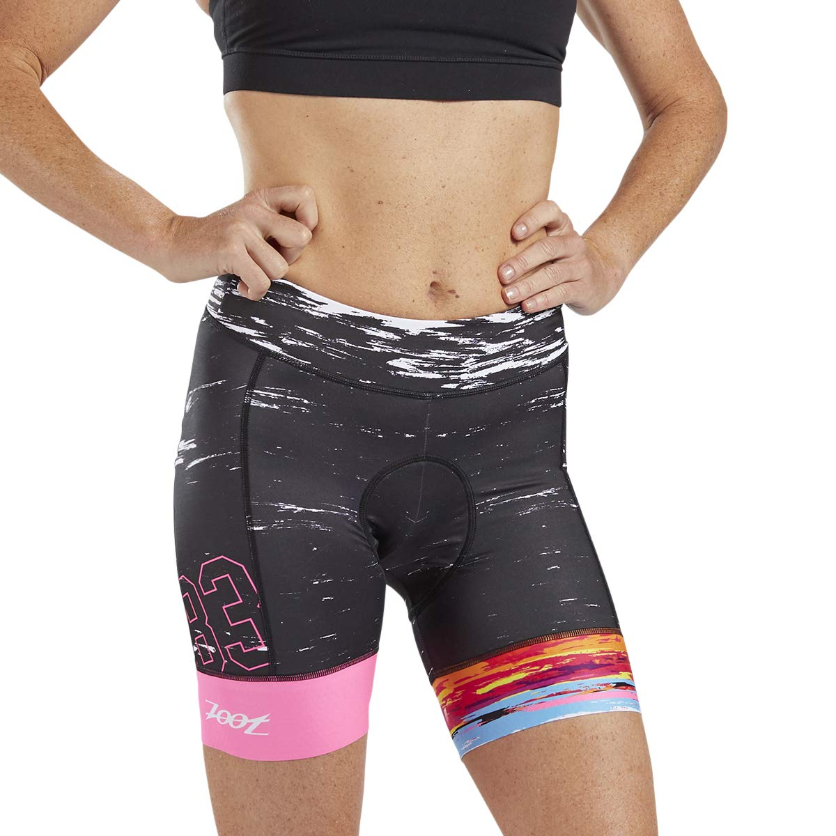 Zoot LTD Women's 7-Inch Cycling Shorts – Performance Cycle Shorts with TMF Chamois (83, X Small)