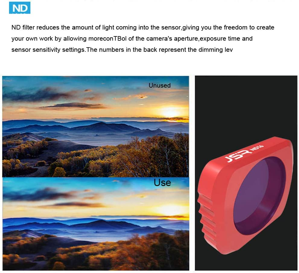 Vkarh ND//CPL Camera Lens Filters for DJI OSMO Pocket Remove Reflection Increase Color Saturation CPL + ND8 + ND16 for Shooting Capturing Professional Quality Images Videos