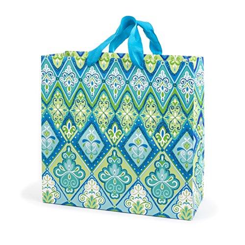 Hallmark Large Square Gift Bag (Floral Pattern) ()