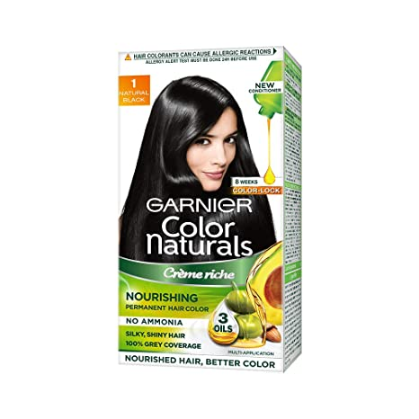 70833c15a8cab Buy Garnier Color Naturals Crème hair color, Shade 1 Natural Black, 70ml +  60g Online at Low Prices in India - Amazon.in