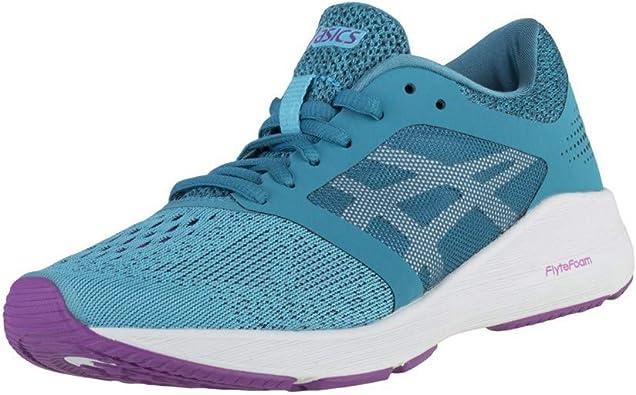 ASICS - Roadhawk FF - Zapatillas deportivas de running de tobillo alto para mujer, Azul (Acuario/Blanco/Orquídea), 38 EU: Amazon.es: Zapatos y complementos