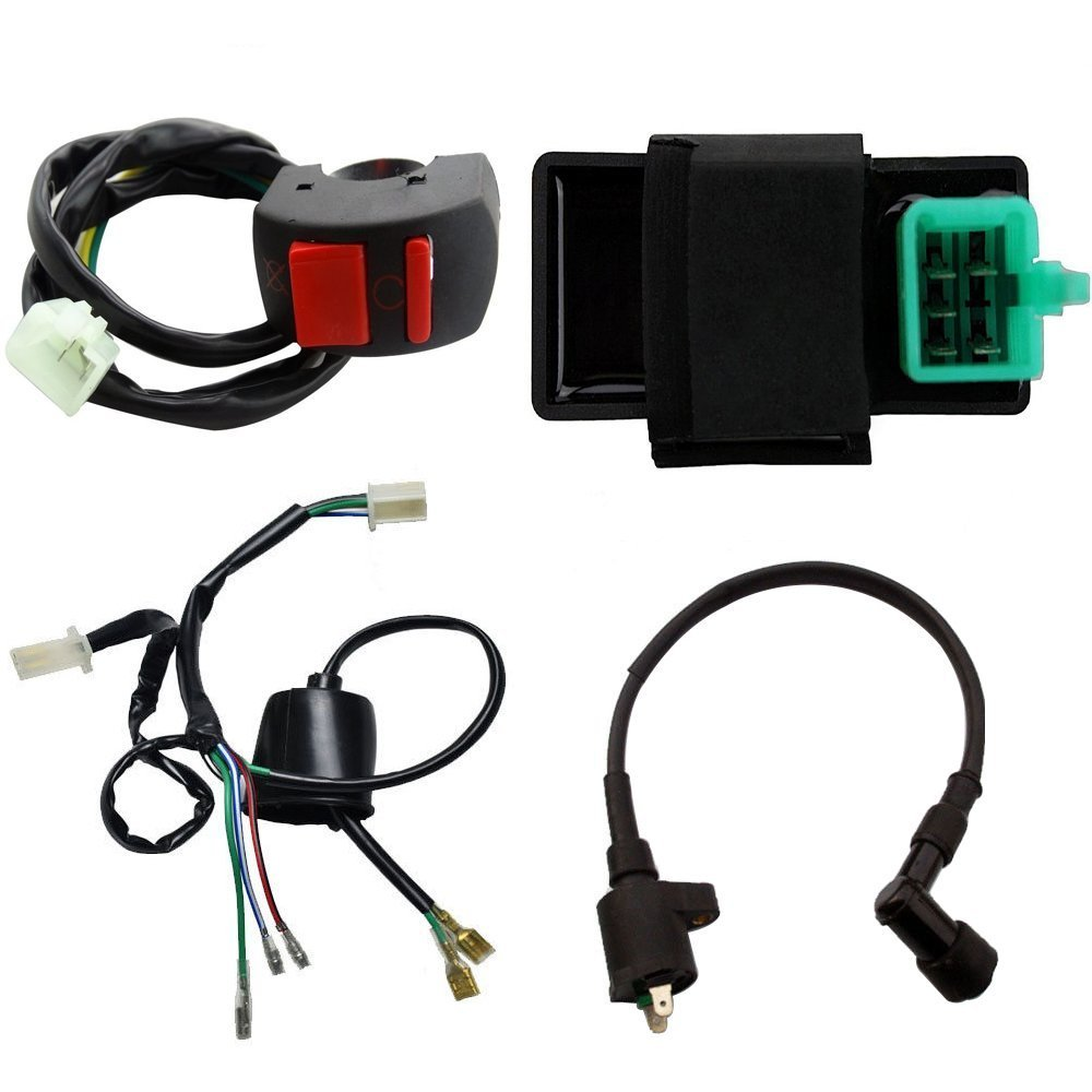 Wphmoto Wire Loom Cdi Ignition Coil Kill Switch For 50cc Pit Bike Wiring Type 2 110cc 125cc Dirt Atv Automotive