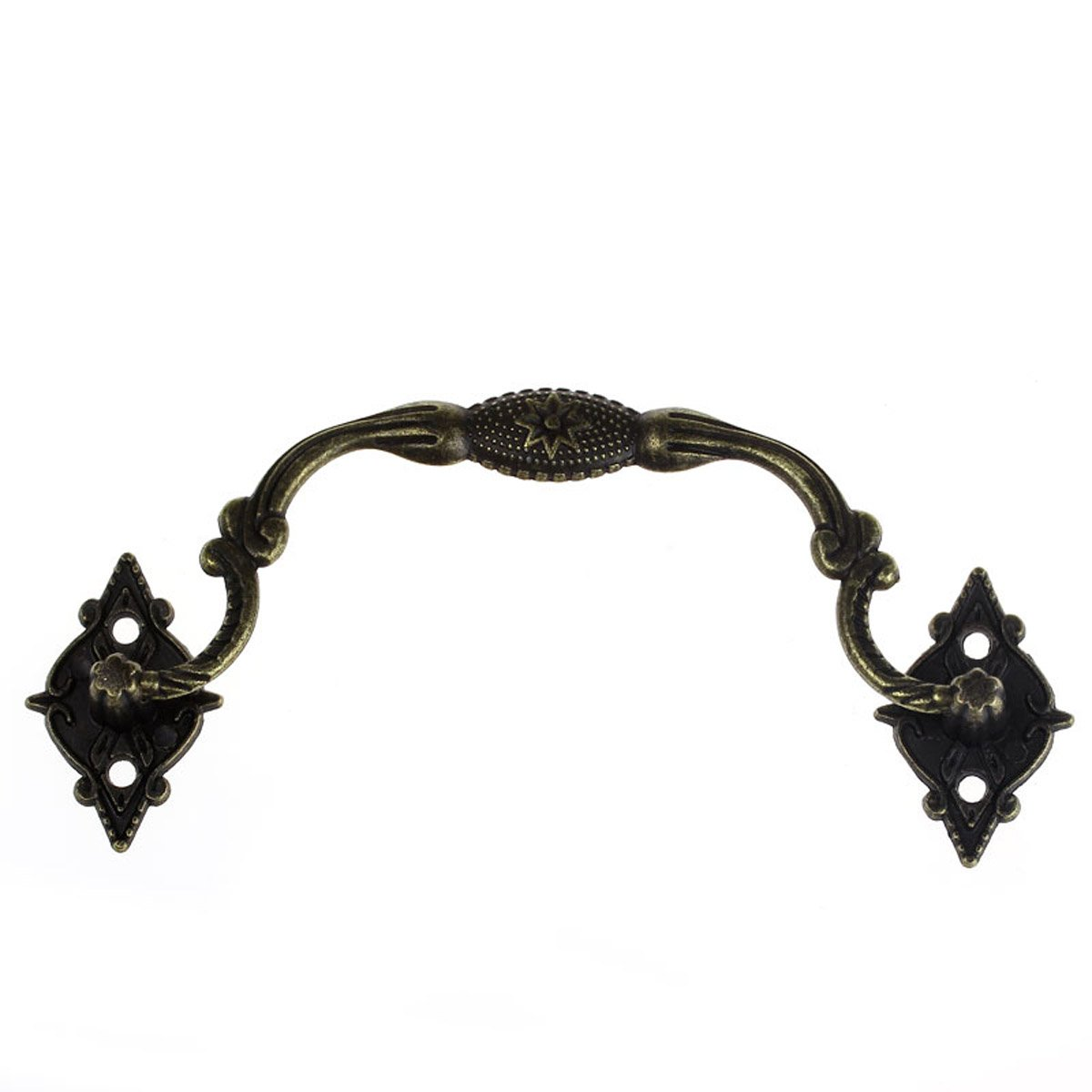 Housweety 10PCs Box& Suitcase Holder Arch Bronze Tone 9.6cm x3.6cm(3 6/8 x1 3/8) 3.3cm HOUSWEETYB32890