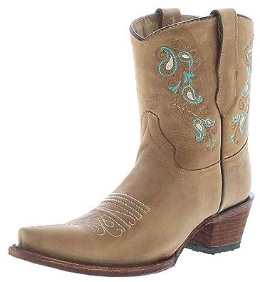 Circle G Boots L5458 - Botines de Piel para Mujer, Color marrón ...