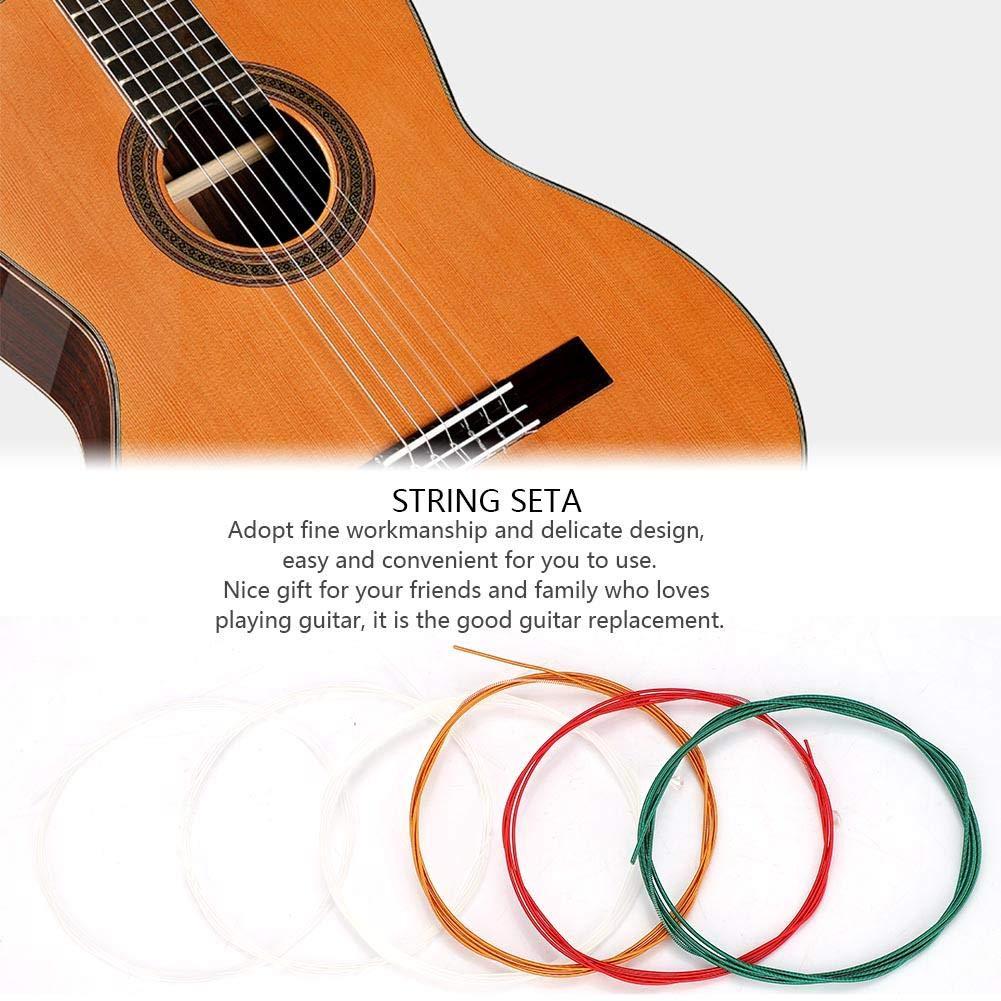 Dilwe Juego de Cuerdas para Guitarra, 6Pcs/Set Metal Nylon Cuerdas ...