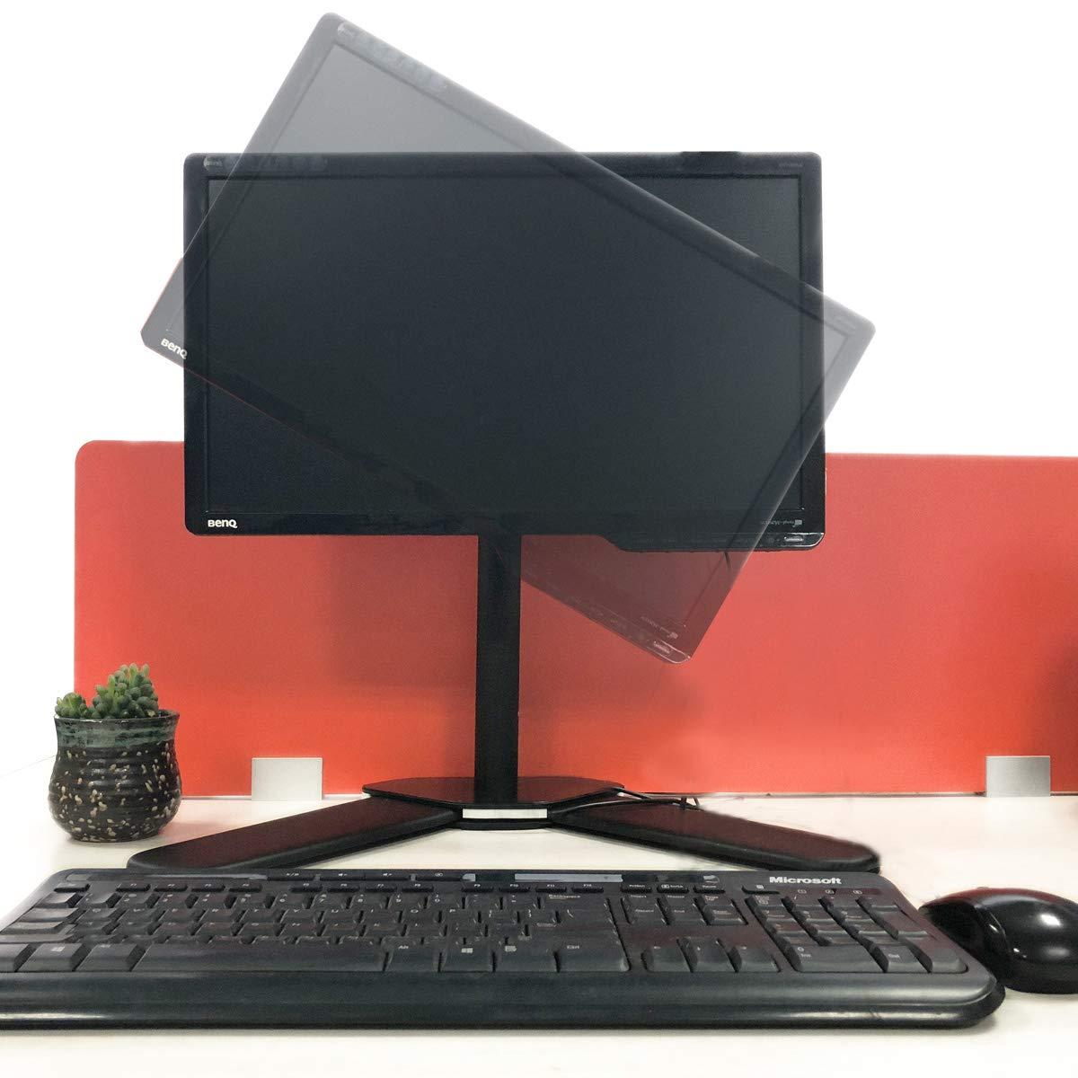 suptek Supporto Monitor Scrivania per 2 Monitor per Schermo 13-27 con VESA 75//100mm ML6442