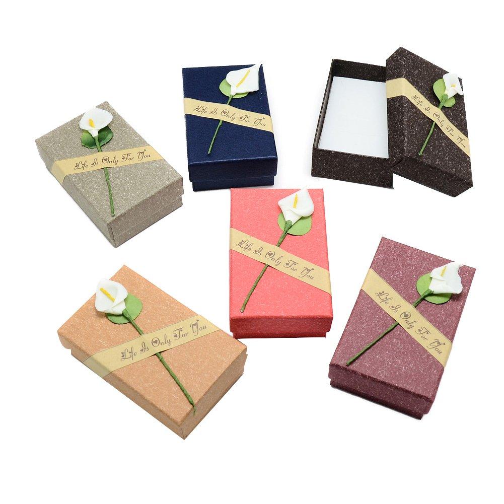 NBEADS 24PCS Colore Misto Gift Box Set –  Lily Jewelry Box per anniversari, Matrimoni, Compleanni –  8 x 5 x 3 cm Compleanni-8x 5x 3cm