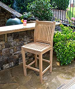 Teak Bar Chair (2PK) - by Tortuga Outdoor