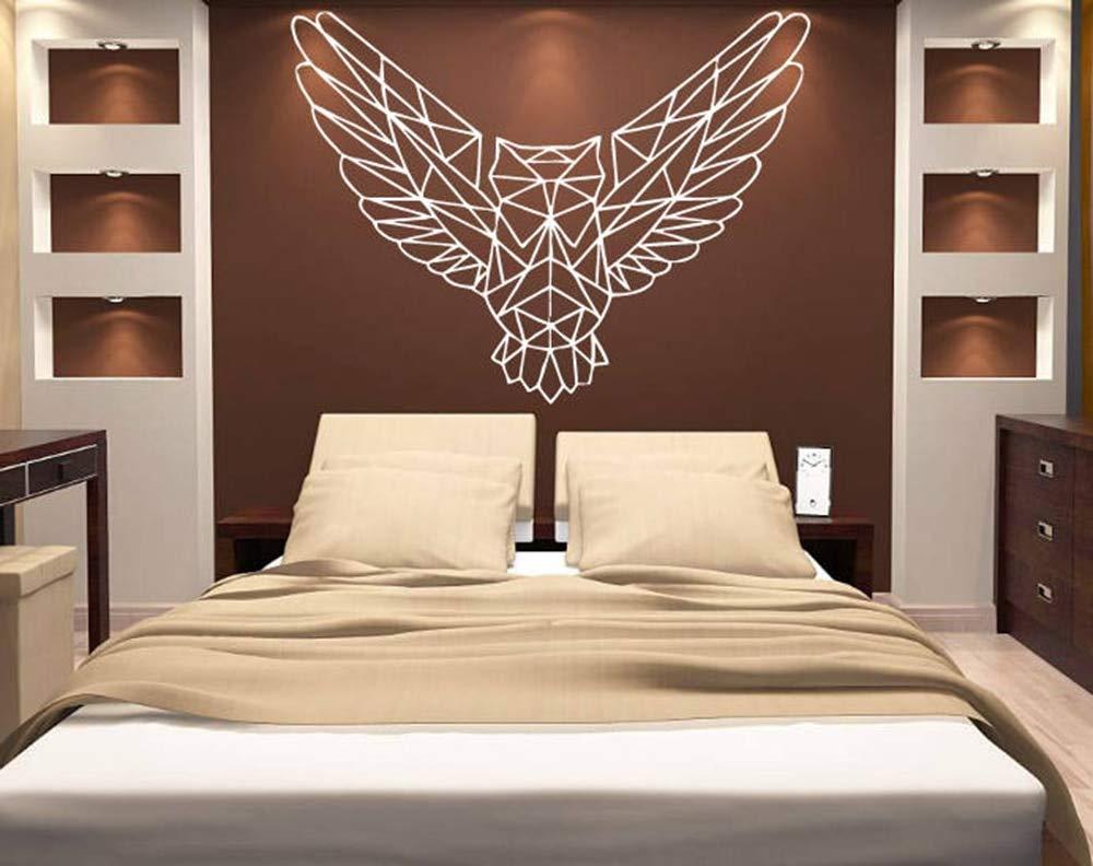 56x42 cm Patrón de Origami Geométrico búho ave Tatuajes de pared ...