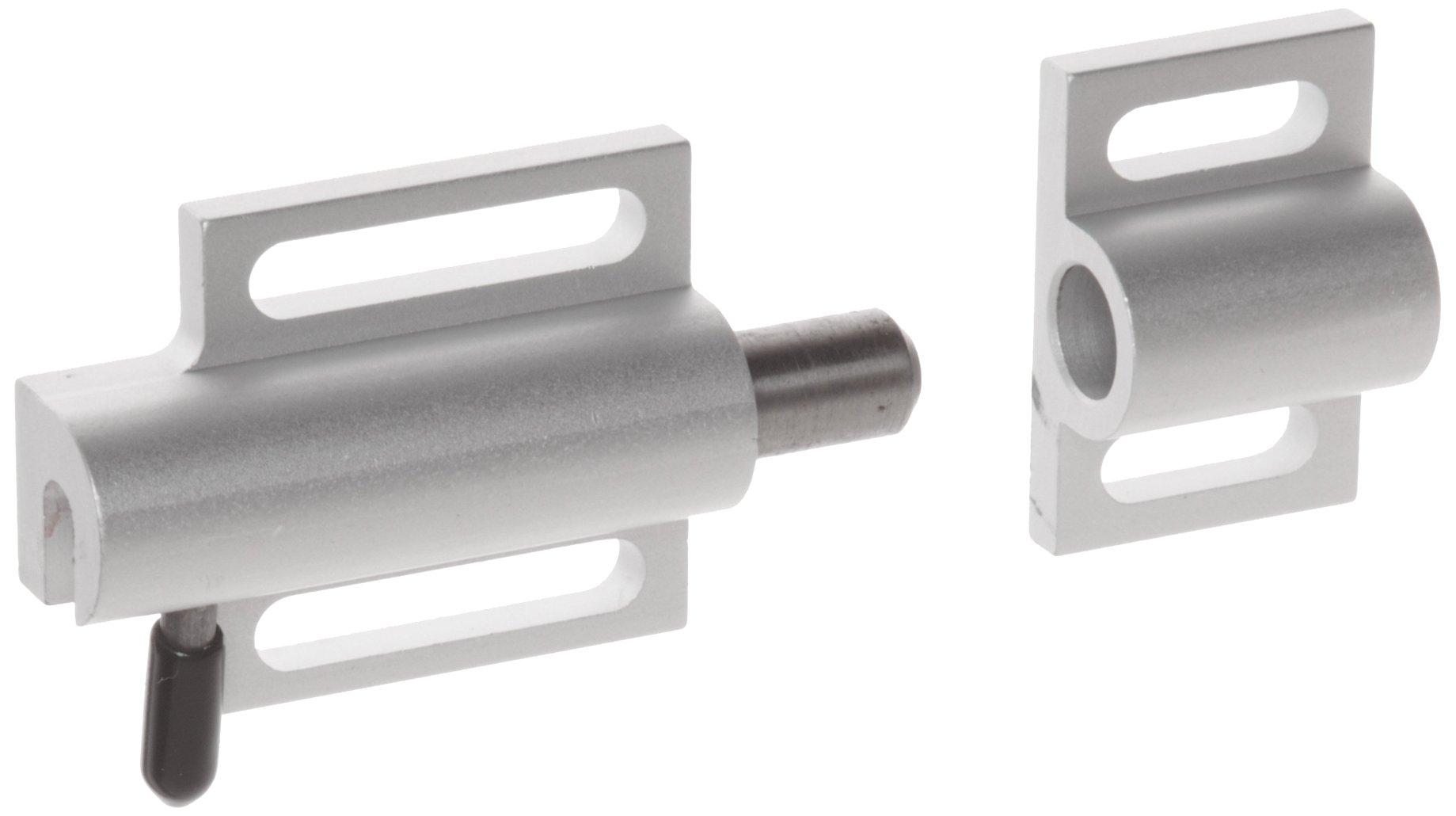 Faztek 15 Series Aluminum 6063-T6 Side Release Deadbolt Latch with Clear Anodize, 3'' Length x 1-1/2 Width