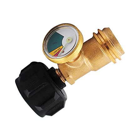 Amazon.com : Wadoy Propane Tank Gauge, Level Indicator Leak Detector Gas Pressure Meter for BBQ Gas Grill, Cylinder, RV Camper QCC1/Type 1 Connection ...
