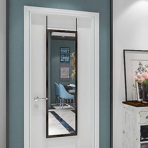 N / A whitebeach Full Length Mirror 16×48 inch Over The Door MirrorRectangular Framed Bathroom Mirror