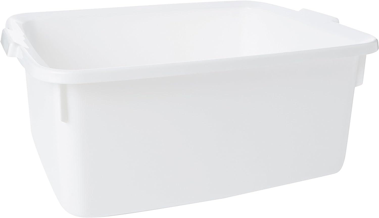 Addis Contenedor Grande Rectangular de plástico, Color Blanco