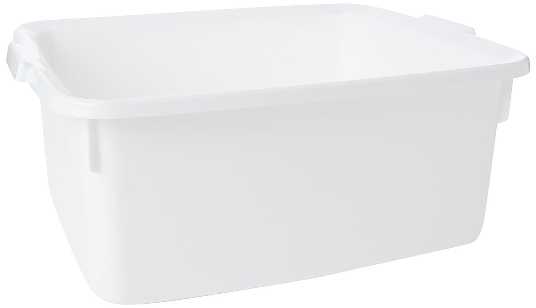 Addis Plastic Butler Large Rectangular Bowl, White, 12.5 Litre ...