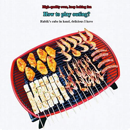 YHM Barbecue Grill Extérieur Petit Mini Poêle en Carbone sans Fumée, Brochettes De Barbecue À Charbon De Bois, Amis Rassemblant Le Barbecue