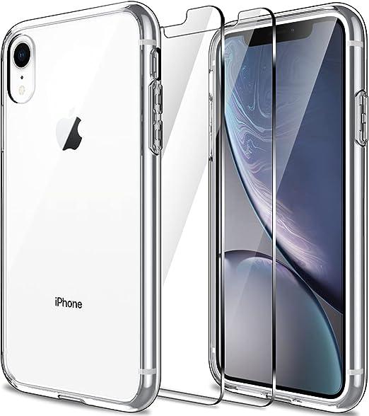 LK Coque pour iPhone XR avec lot de 2 films de protection d'écran ...