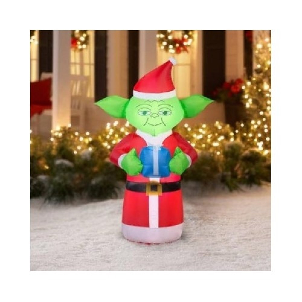 star wars airblown inflatable christmas decorations lawn yard ornaments r2 d2 yoda darth vader 3pcs home garden - Star Wars Christmas Yard Decorations