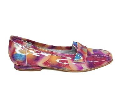 Gennia BIONDA - Damen Leder Loafer mit Absatz 1 cm