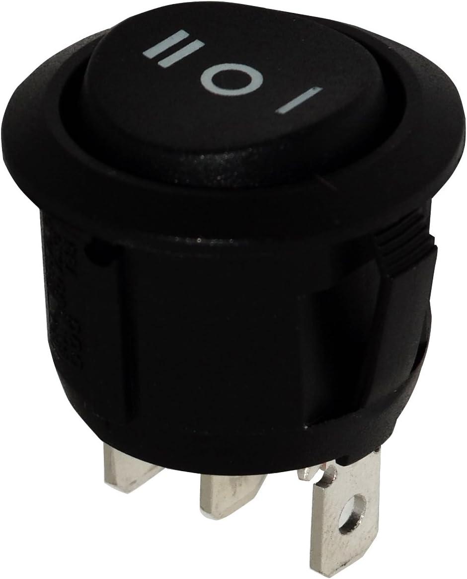 3A//250V 1 position Interrupteur commutateur contacteur bouton /à bascule noir SP3T AERZETIX -OFF- ON ON