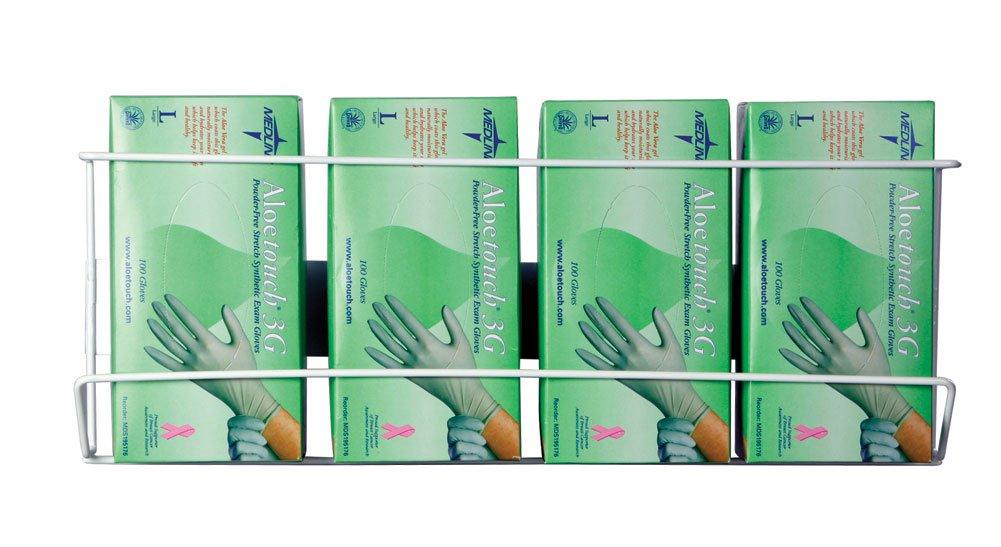 Wire Glove Box Holder, Quadruple, Vertical