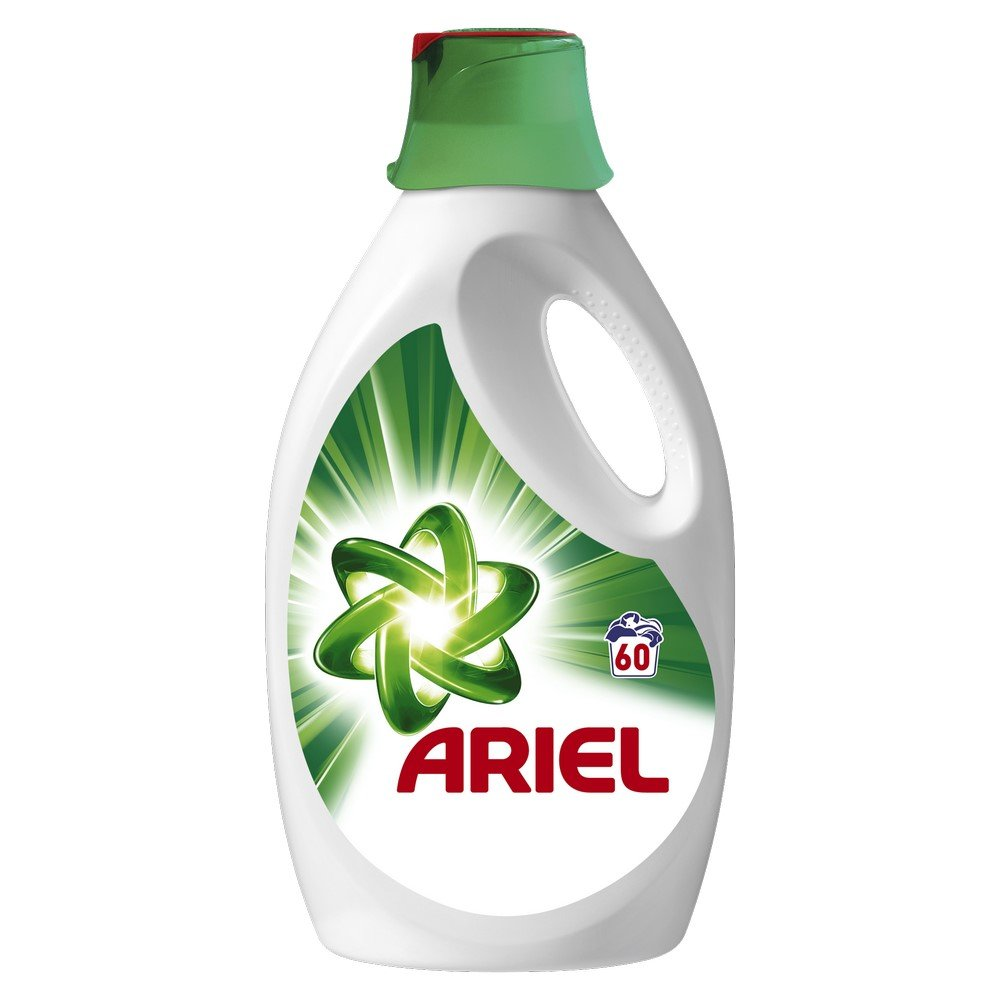 Ariel Washing Liquid Original, 3 Litre, 60 Washes, Removes Stains in One Wash and Fine Cleaning on Whites with Cap