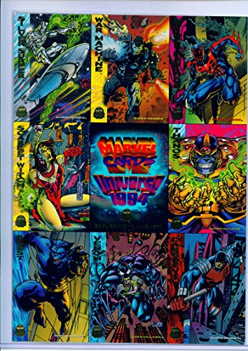 1994 Marvel Universe Trading Cards 9 Card Uncut Sheet (Card Preview Trading)