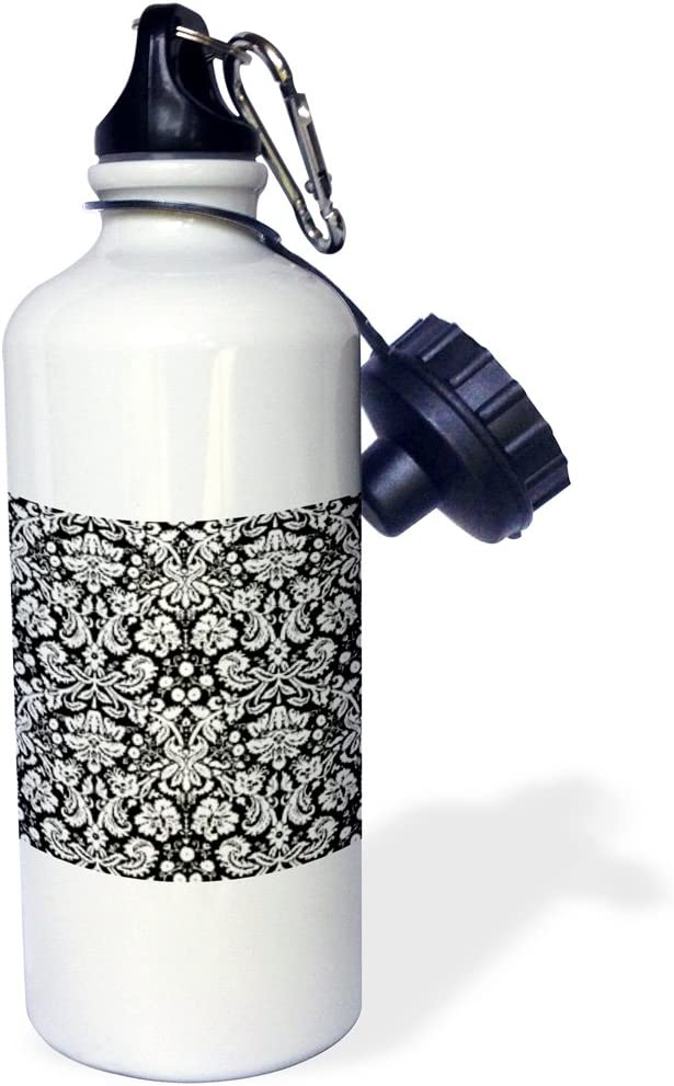 3dRose wb/_151474/_1 Best Aunt Ever-Family Gifts for Relatives and Honorary Aunts and Great Aunties-Black Text Sports Water Bottle 21 oz White