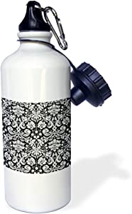 3dRose Best Aunt Ever-Family Gifts for Relatives and Honorary Aunts and Great Aunties-Black Text Sports Water Bottle, 21 oz, White