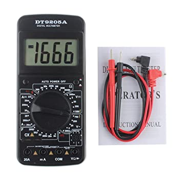 Instruments De Mesure Autres Dt9205 A Voltmètre Multimètre Numérique Ampèremètre Testeur De Capacité 9 V