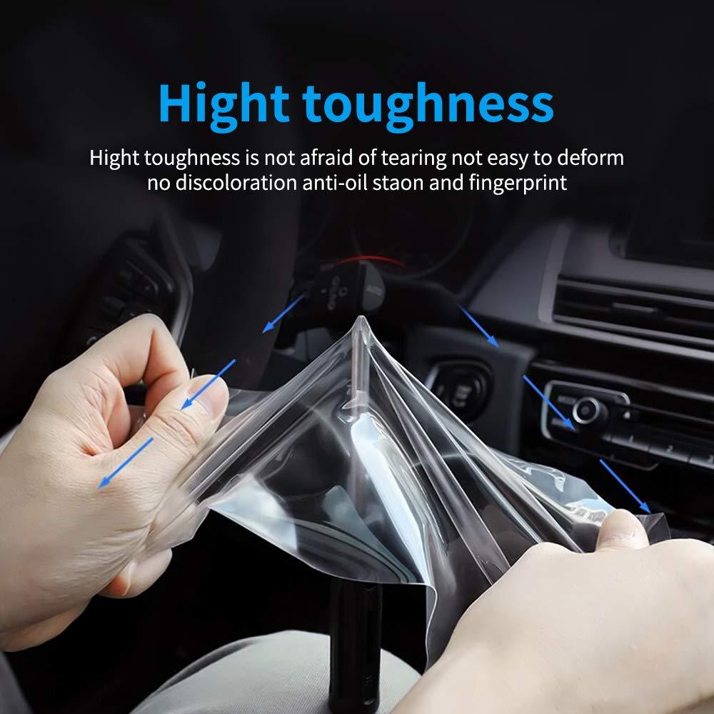 OIOBOMBG Para BMW E90 F30 F31 F32 F33 F34 F35 G05 G07 G11 G12 G20 G21 3 4 7 Series X5 X7 Protector de Pantalla del Panel de Instrumentos del autom/óvil Pel/ícula de TPU