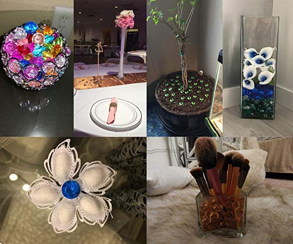 Event Wedding Birthday Decorations Favor 12 Pcs Vase Fillers Assorted Pirate Gems Acrylic Radom Color Round Treasure Gemstones for Table Scatter Arts /& Crafts