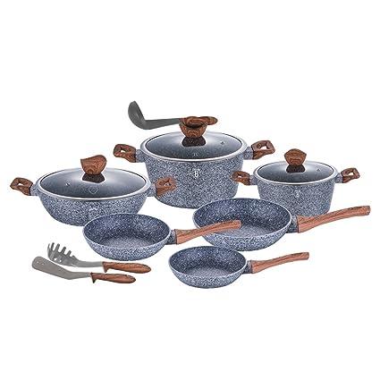 Berlinger Haus 12 piezas Batería de cocina ollas sartenes BH 1530