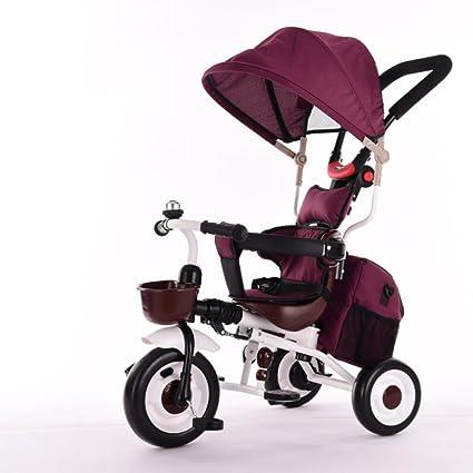 TUJHGF Bicicleta Triciclo para Niños 1-3-5 Años De Edad Bebé Cochecito Infantil