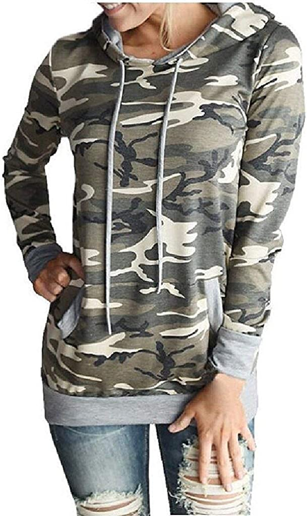 Gillberry Womens Cotton Pocket Hoodie Sweatshirt Hooded Pullover Tops Blouse