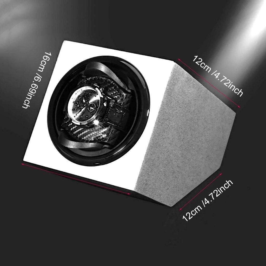 QLL Watch Winder Singolo Meccanismo Silenzioso 3 Rotazioni,5 Velocità,Rotazione Oraria o Antioraria Pink