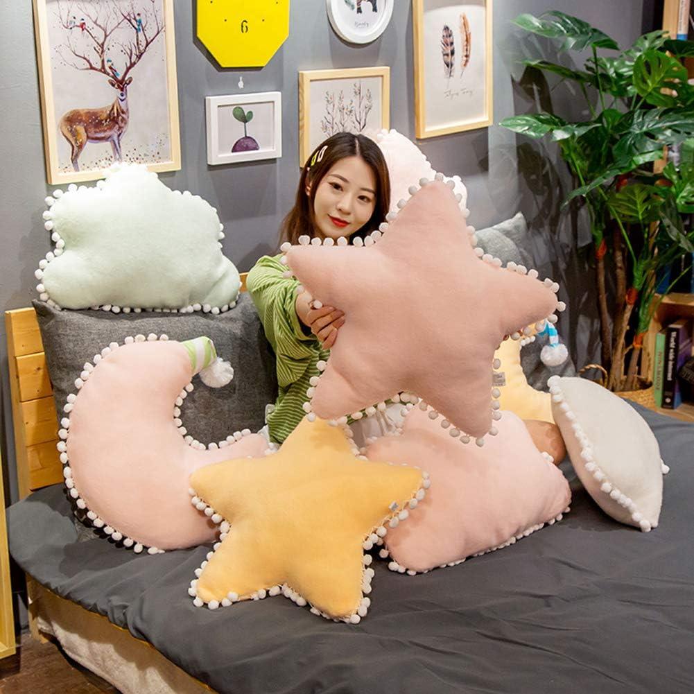 Jensquaify Creative Star Pillow Soft Star Shaped Plush Throw Pillows Cushions Stuffed Toys Green