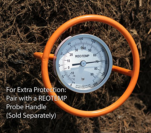 REOTEMP Super Duty Compost Thermometer with Fast Response - Dual Scale C & F (36 Inch Stem)