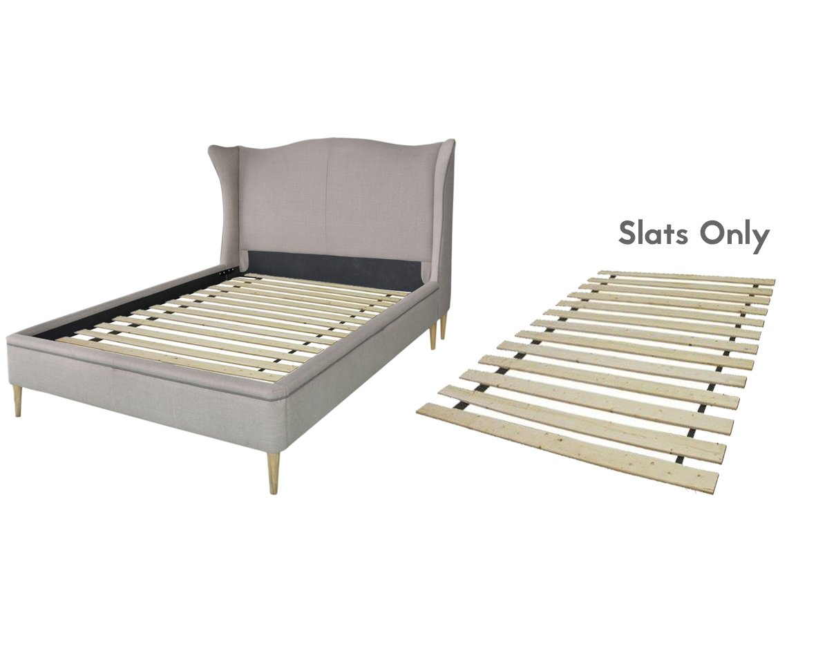 Continental Mattress Wooden Bed Slats/Bunkie Board Frame, Queen, Beige