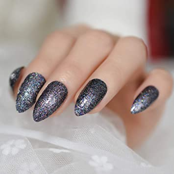 Amazon.com: Twinkling Glitter uñas artificiales Fabulous ...