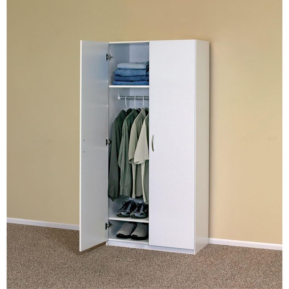 Amazon.com: ClosetMaid 12298 30 In. 2 Door Wardrobe Home Furniture  Organizer Storage Cabinet By ClosetMaid: Kitchen U0026 Dining