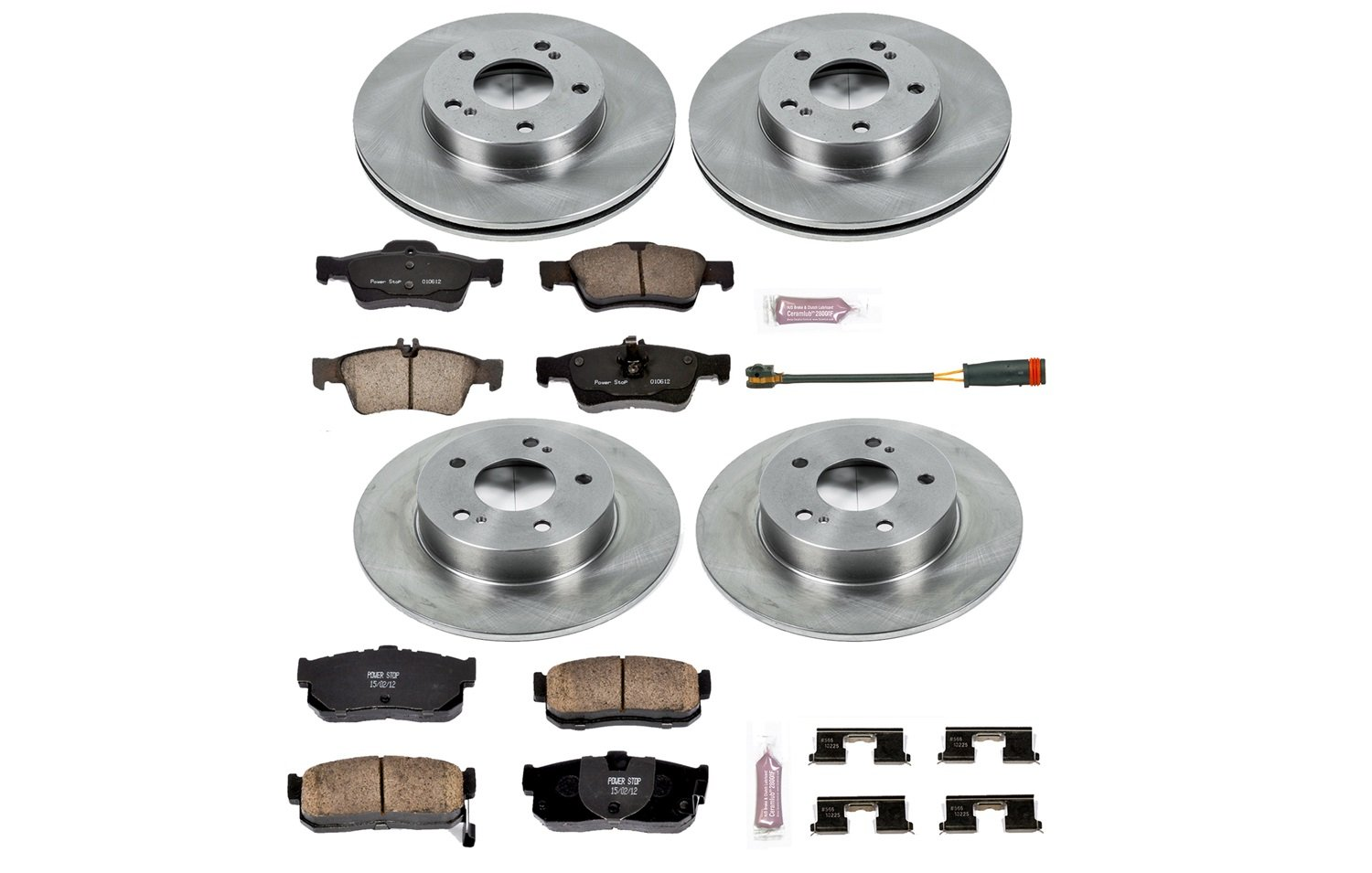 Autospecialty KOE662 1-Click OE Replacement Brake Kit