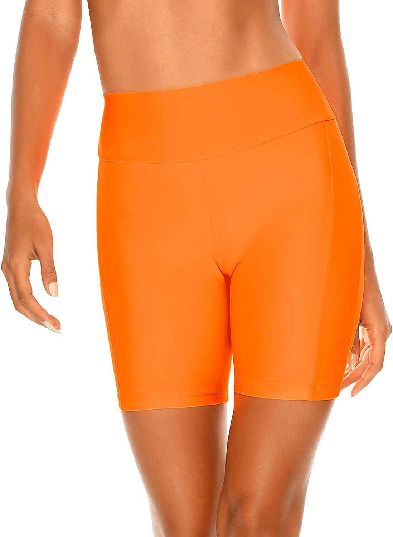 RELLECIGA Womens High Waisted Board Shorts Swimwear Shorts Bike Shorts